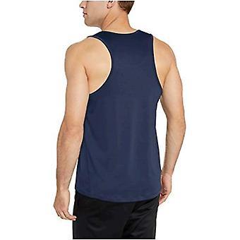 Essentials Mænd's Tech Stretch Performance Tank Top Shirt, Navy, Large