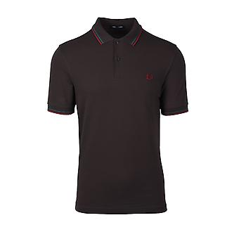 Fred Perry Twin Tipped Poolopaita Lakritsi/pullo Vihreä/roso