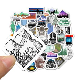 Wilderness Adventure  Landscape, Waterproof Decal Sticker