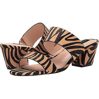 Steven by Steve Madden Women's Shoes Viviene Calf Hair Open Toe Casual Mule Sandals