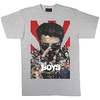 Pojat Cast Collage Men's T-paita | Viralliset kauppatavarat