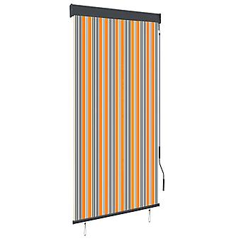 vidaXL Outer roller blind 100 x 250 cm yellow and blue