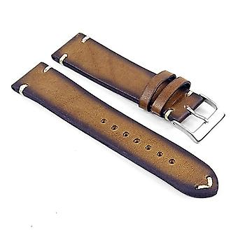 Strapsco dassari regal vintage leather strap with hand sewn stitching
