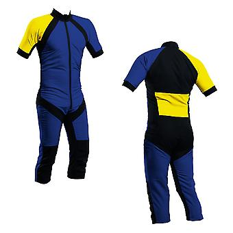 Skydiving summer suit royal-yellow s2-03