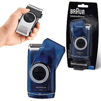 Braun Pocket Go M60B MobileShave Draagbare grooming scheerapparaat
