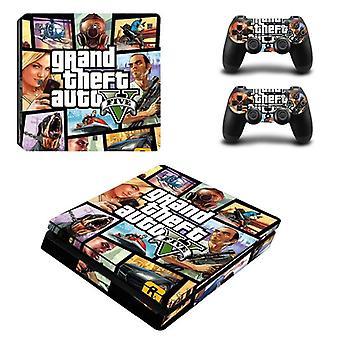 Adesivo de capa PS4 Slim para Sony Playstaion 4 e Gamepad Controller Joystick