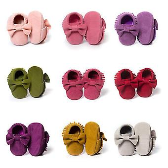 Vauvan kengät ensimmäiset kävelijät, vastasyntyneet vauvan mokkasiinit pehmeät soled-liukukengät