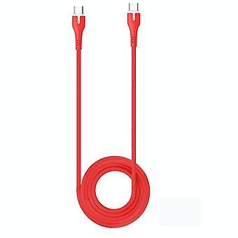 Hoco X45 Surplus Type-C naar Type-C PD Snellaaddatasynchronisatiekabel, lengte:1.8m(Rood)
