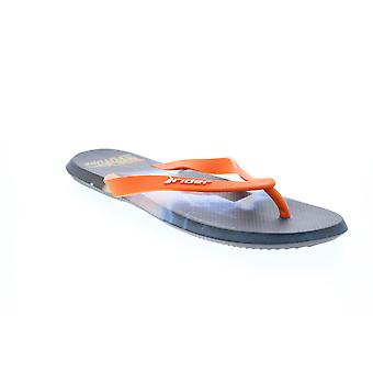 Rider R1 Blockbuster de volta ao futuro Mens Laranja Flip-Flops Sandálias Sapatos