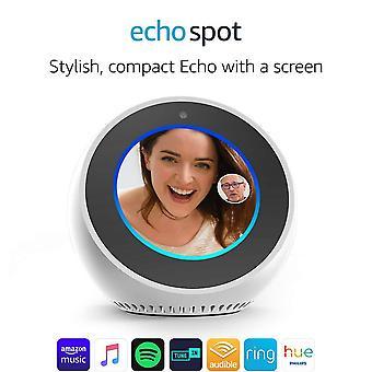 Amazon echo spot, sveglia intelligente con alexa - bianco