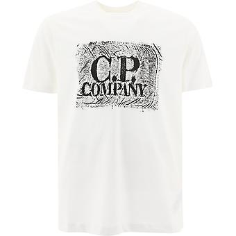 C.p. Företag 10cmts204a006011w103 Män's Vit Bomull T-shirt