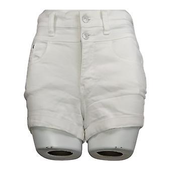 WallFlower Juniors' Shorts High Rise Rolled Hem Sassy Fit White