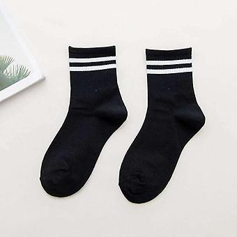 Cute Cotton Loose Striped Crew  Fashion Colorful Designer Retro Long Socks