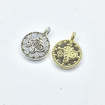 Mini Coin Zink Legering Sieraden Diy Ketting Charms Hanger