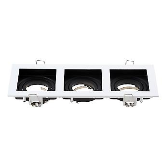 Commercial Zinc Alloy Square - Adjustable Recessed Spotlights Light Fixture