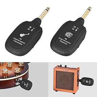 UHF Guitar Wireless System Transmitter Receiver Built-in Rechargeable wireless guitar transmitter