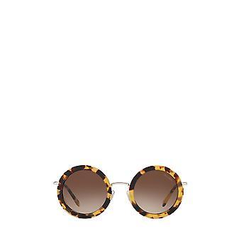 Miu Miu MU 59US gafas de sol femenina havana ligera