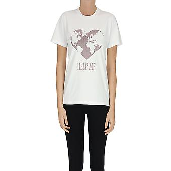 Alberta Ferretti Ezgl095079 Frauen's weiße Baumwolle T-shirt