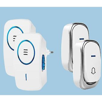 Bezprzewodowy dzwonek do drzwi, zasilany bateryjnie z 32-dostrojonym utworem Song For Home Door Bell, Smart
