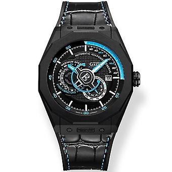 Automatic Mechanical Leather Wristwatches Waterproof Sports Watches