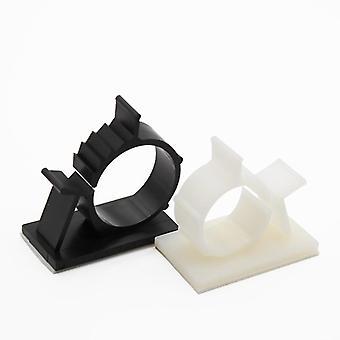 Self-adhesive Cable Clips, Desktop Wire Holder, Organizer Clamp, Plastic Fixer