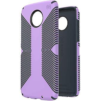 Speck Presidio Grip Case for moto z4 - Jelly Purple/Charcoal Grey