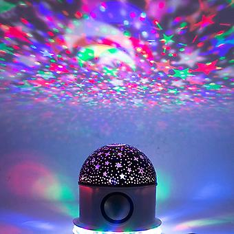Starry sky projector lamp Bluetooth projector light LED colorful lamp built-in stereo