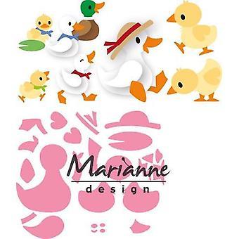Marianne Design Verzamelobjecten Snijdrijzen - Eline>s Duck Family Col1428 14,5x20,5 cm