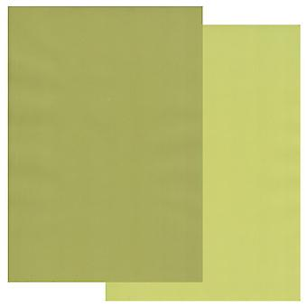Groovi Parchment Paper A4 Two Tones Apple Green-Pear Green