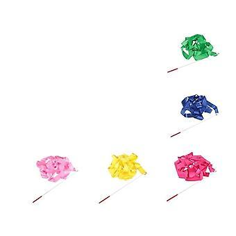2pcs الملونة 4m جيم الرقص كمال الاجسام الشريط