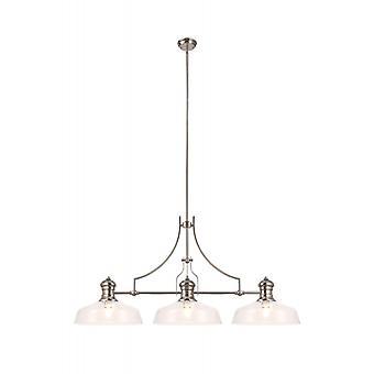 Arianna Design Lámpara Colgante 3 Bombillas Níquel Pulido 30,5 Cm