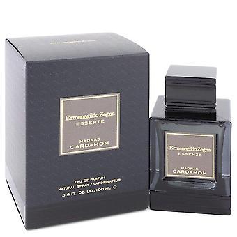 Madras Cardamomeau Eau De Parfum Spray por Ermenegildo Zegna 3.4 oz Eau De Parfum Spray