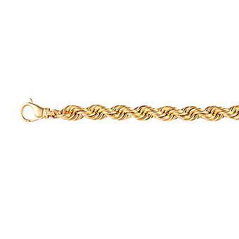 """Italiensk Made 9k Gul Guld Rope Halskæde Størrelse 22"""" Guld wt. 37.57Gms"""