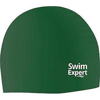 SwimExpert Adult Unisex Silicone Swim Cap-Green