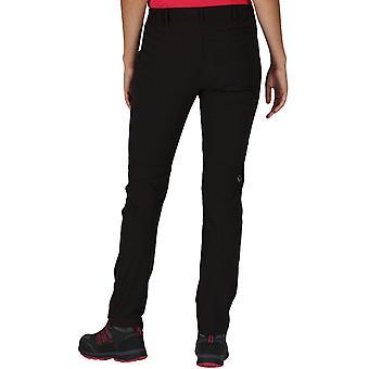 Regatta Mujeres Highton Stretch Al aire libre caminando pantalones de senderismo pantalones - negro