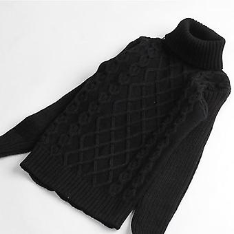 Baby Teenage Sweater, Turtleneck Winter Thicken Warm Knitted Clothing
