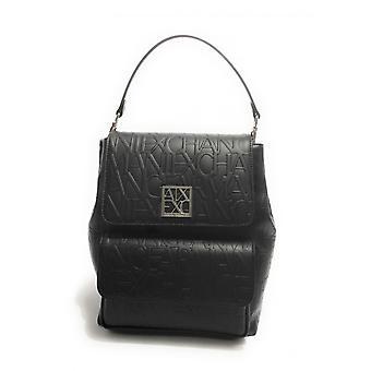 Women's Bag Armani Exchange Backpack Backpack With Skate Embossed Black B21ax20