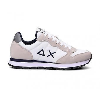 Running Sun68 Tom Solid Suede/ Nylon White Sneaker Us21su10 Z31101