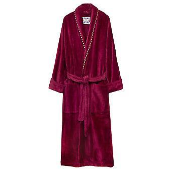 Bown of London Duchess Plain Velour Dressing Gown - Claret Burgundy