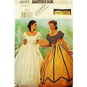 Butterick ompelu kuvio 6693 Misses Viktoriaaniset PukuKoot 6-8-10