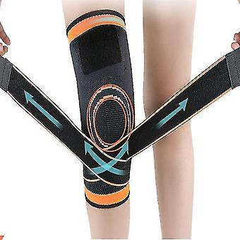 Pressure winding adjustable knitted knee protector sports basketball cycling fitness breathable protector winter knee protector
