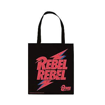David Bowie Rebel Rebel Canvas Tote Bag