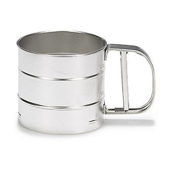 flour sieve 250 g stainless steel silver