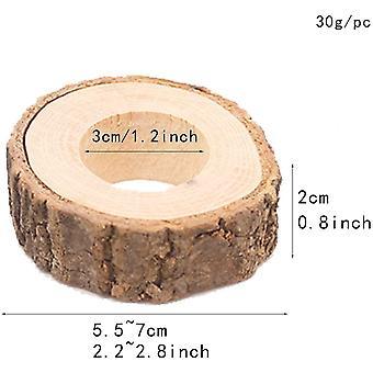 Wokex 10 Kreis Holz Serviette Ring DIY Basteln Kits Hochzeit Pary Tisch Ornament