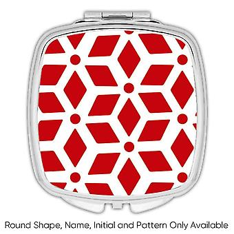 Gift Compact Mirror: Abstract Design Red