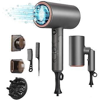 FengChun Haartrockner ionen, Haartrockner ionen Hair Dryer Klappbarmit, Fhn Reisefn mit Thermo