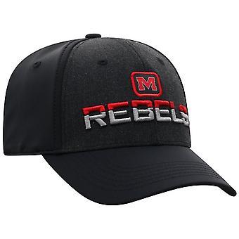 Ole Miss Rebels NCAA BLÅR Tag Stretch Monteret Hat