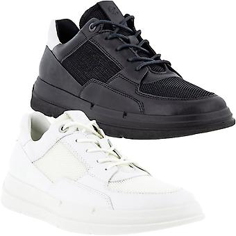 ECCO Womens Soft X Leather Lace Up Casual Trainers Sneakers Shoes