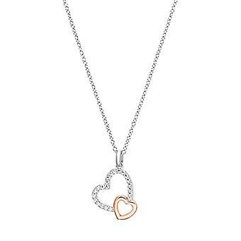 S.Oliver, kaulakoru naisten riipuksia, hopea 925 kaksisävyinen sydän zircons. (1)