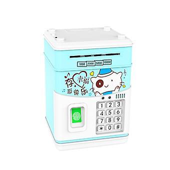 بنك الخنزير للأطفال عملة المال الصراف الآلي عيد ميلاد الكلب القابلة لإعادة الشحن القط أرنب cq2